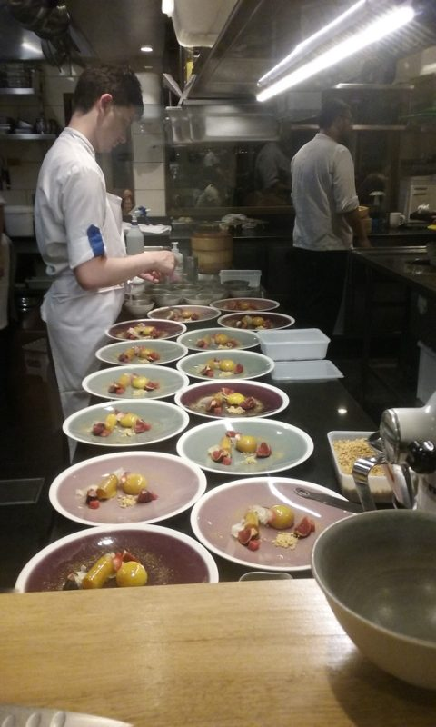 And How Spectacular to See the Chefs Assemble the Dish for the Evening