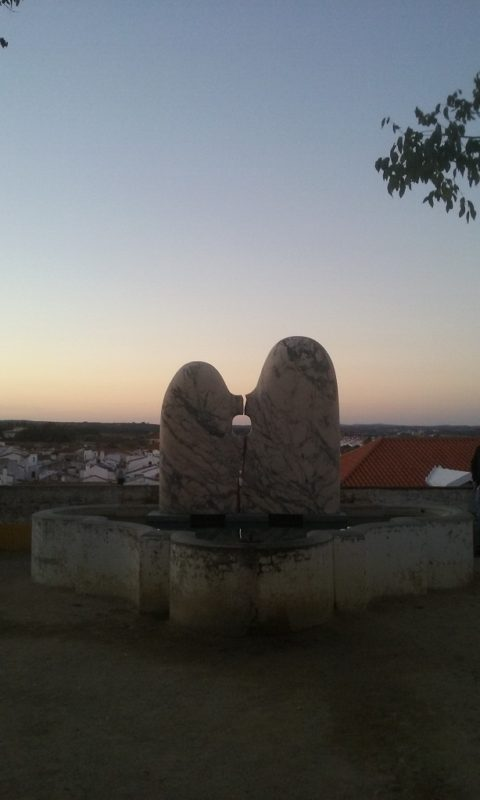 Marble Megaliths At Sunset in Évora