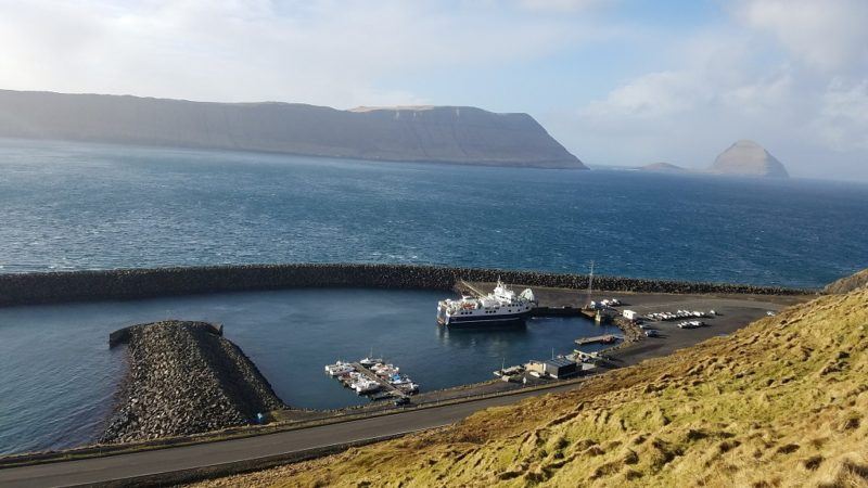 Faroe Islands, Hestur, ferry