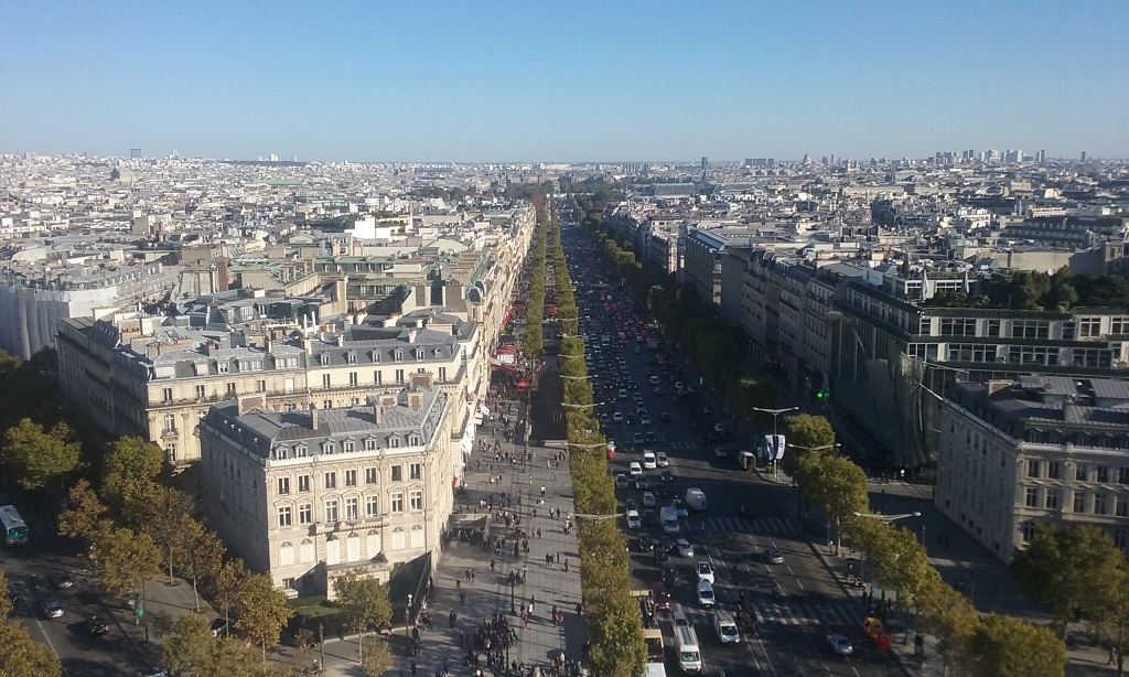 Avenue des Champs Élysées as Seen from the Arc