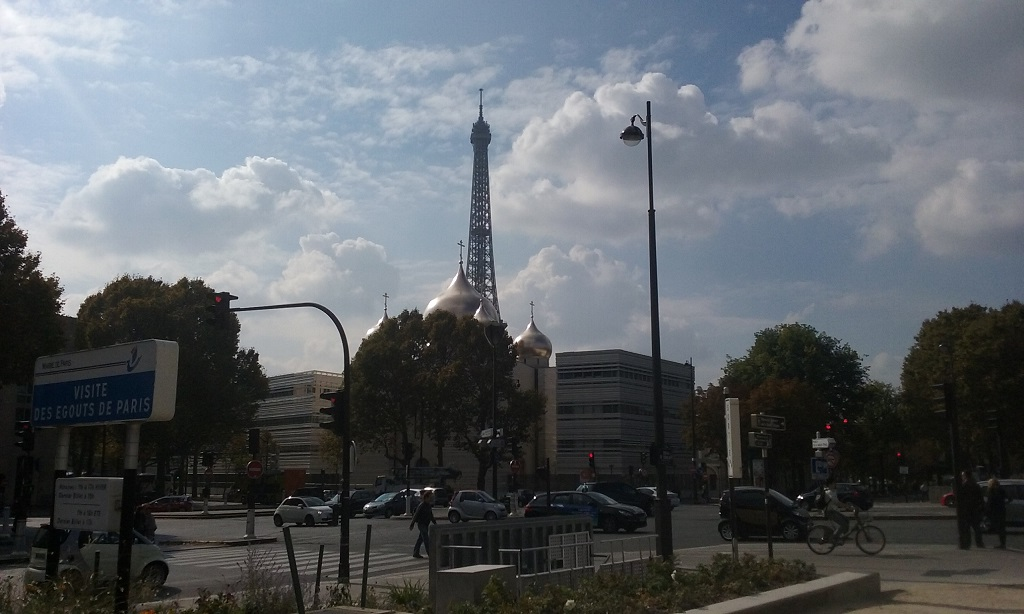The Juxtaposition with the Mosque Is One of the Innumerable Vantage Points of the Eiffel Tower