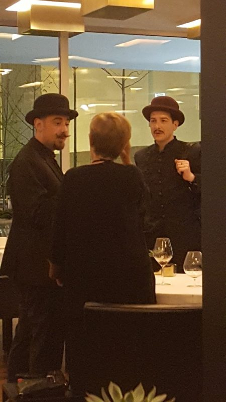 These Two Gents Were Turning the Restaurant into a Circus