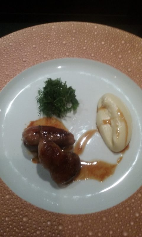Quail with Robuchon's Renown Buttery Mashed Potatoes