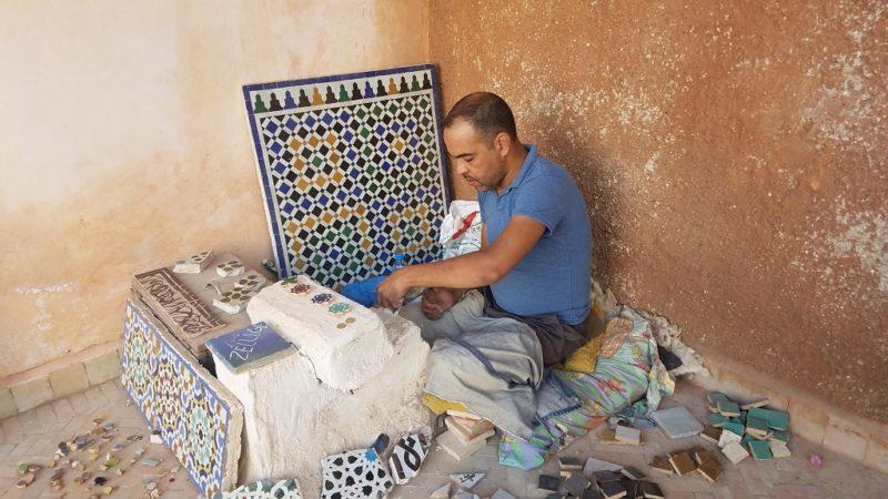 Marrakesh-Morocco-Medina-Saadian-Tombs-Zellige