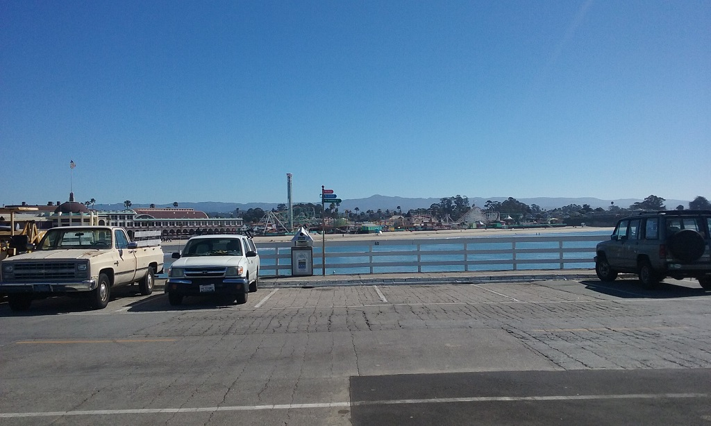 The Iconic Amusement Park Can Be Seen From the Santa Cruz Boardwalk
