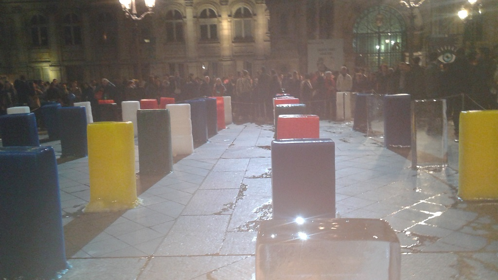 The Same Blocks of Ice, Melting Together to Symbolize Unity
