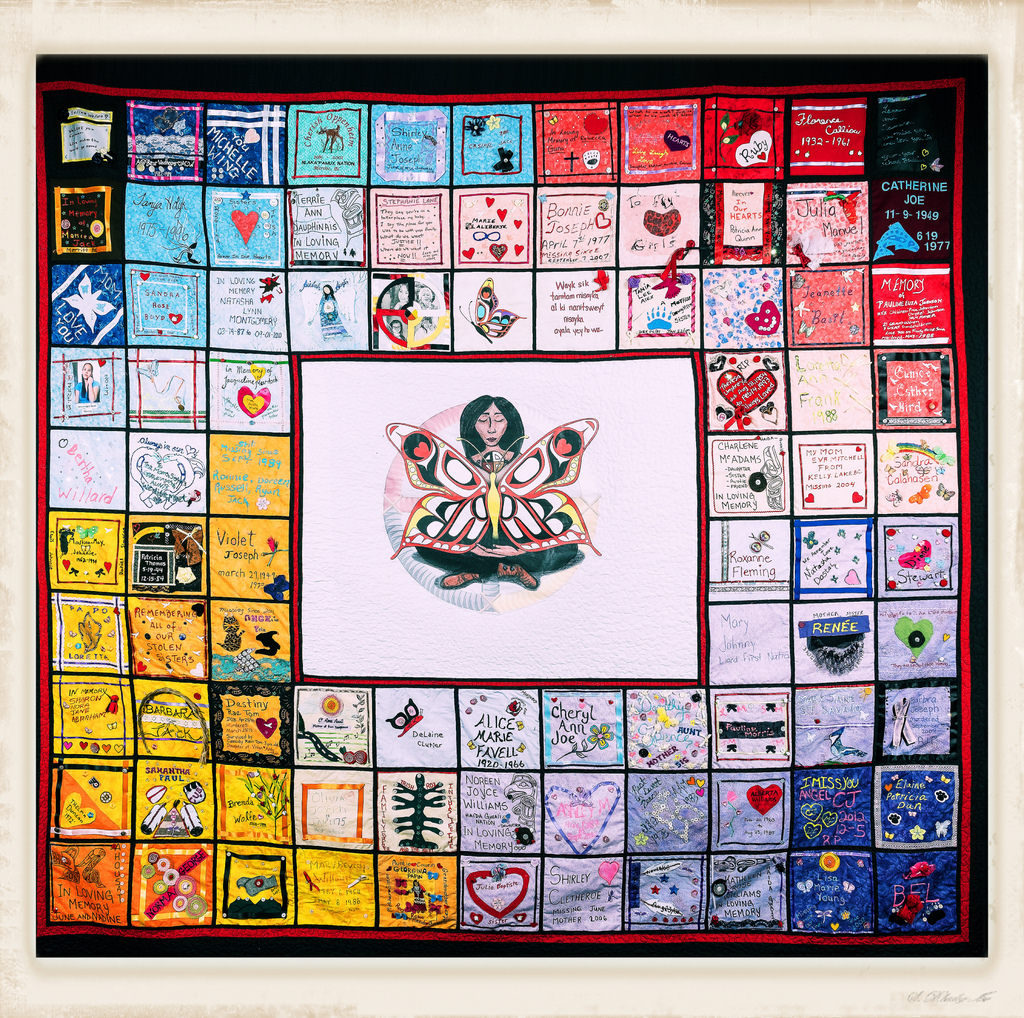 A Quilt Made of the Possessions of Indigenous Women